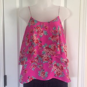Bright floral tank top